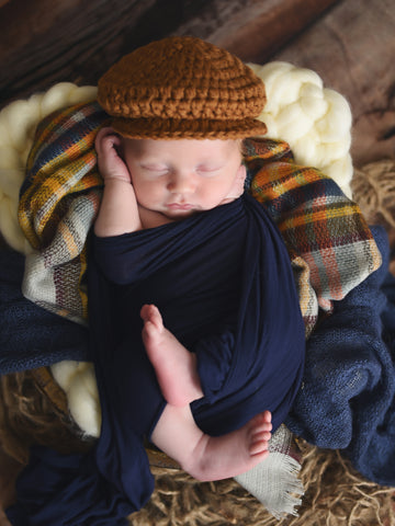 Mustard Irish wool newsboy hat by Two Seaside Babes
