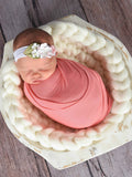 Cream Chunky Round Bump Blanket by Two Seaside Babes