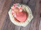 Cream Chunky Round Bump Blanket