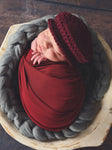 Dark Red Wine | Irish wool Donegal newsboy hat, flat cap, golf hat | newborn, baby, toddler, boy, & men's sizes by Two Seaside Babes