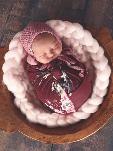 Pale Pink Chunky Round Bump Blanket by Two Seaside Babes