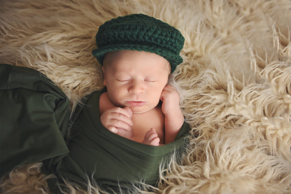 Pine Irish wool newsboy hat