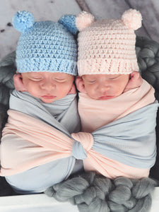 39 colors mini pom pom hat by Two Seaside Babes