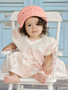 9 to 12 Month Peach Buckle Newsboy Cap by Two Seaside Babes