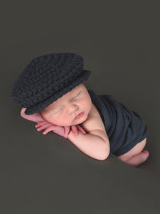 Graphite gray Irish wool newsboy hat by Two Seaside Babes