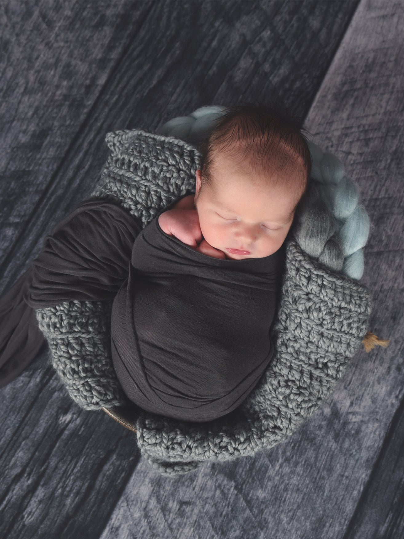 Slate Gray newborn baby layering bump blanket by Two Seaside Babes
