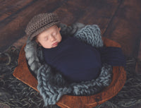 Gray Chunky Round Bump Blanket