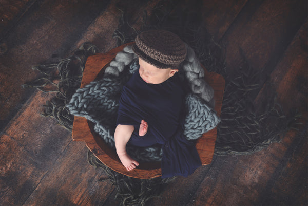 Taupe | Irish wool Donegal newsboy hat, flat cap, golf hat | newborn, baby, toddler, boy, & men's sizes
