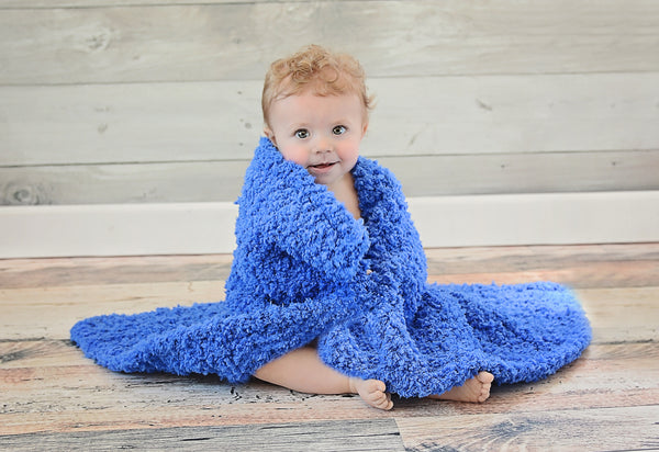"33"" x 33"" Cobalt Blue Cotton Candy Baby Blanket"