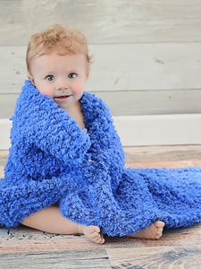 "33"" x 33"" Cobalt Blue Cotton Candy Baby Blanket by Two Seaside Babes"
