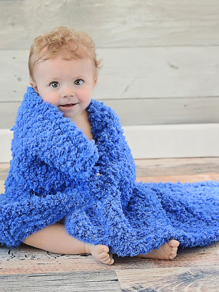 Cobalt Blue Cotton Candy Baby Blanket