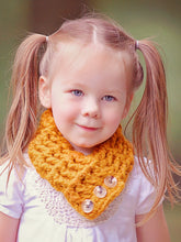 1T to 4T Toddler Butterscotch Button Scarf by Two Seaside Babes