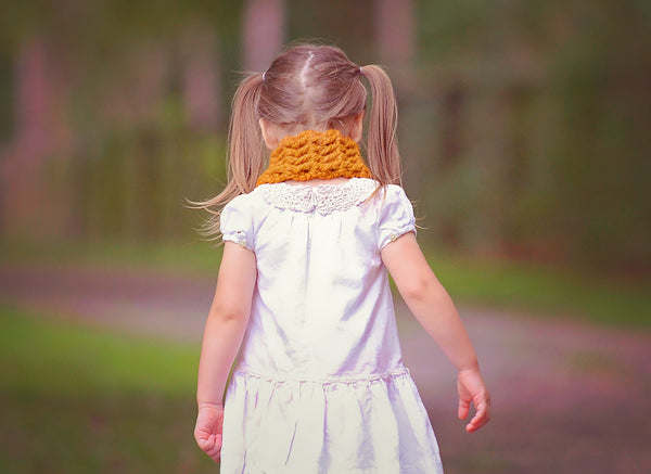 1T to 4T Toddler Butterscotch Button Scarf
