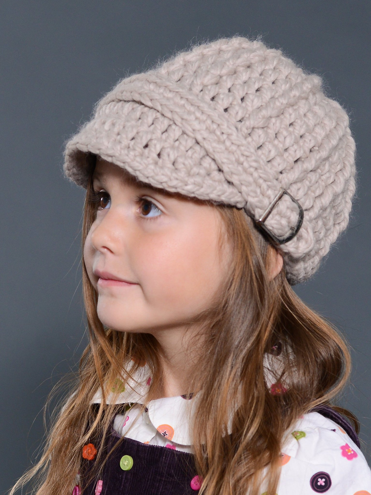 Linen buckle beanie winter hat by Two Seaside Babes