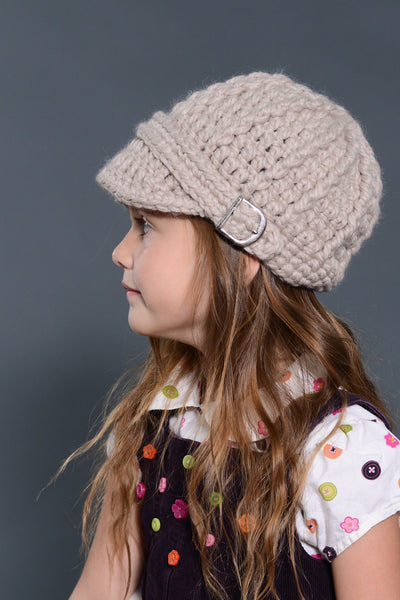 Linen buckle beanie winter hat