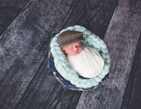 Pale Blue Chunky Round Bump Blanket