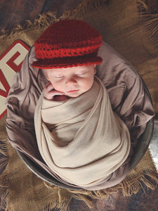 Newborn Red | Irish wool Donegal newsboy hat, flat cap, golf hat | newborn, baby, toddler, boy, & men's sizes by T