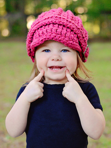 1T to 2T Toddler Raspberry Pink Buckle Beanie by Two Seaside Babes