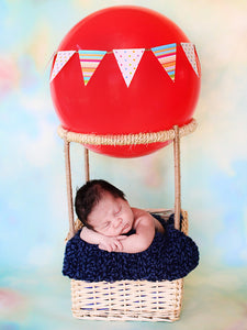Denim Twist | newborn photo prop layering baby blanket, basket stuffer, bucket filler by Two Seaside Babes