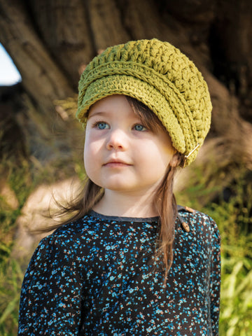 2T to 4T Country Green Buckle Newsboy Cap by Two Seaside Babes