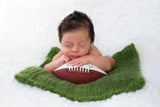Green Grass | newborn photo prop layering baby blanket, basket stuffer, bucket filler