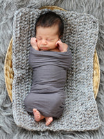 Gray Marble | newborn photo prop layering baby blanket, basket stuffer, bucket filler by Two Seaside Babes