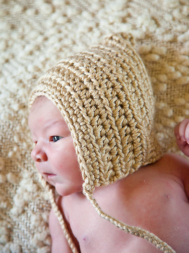 Baby Brown Pixie Elf Baby Hat by Two Seaside Babes