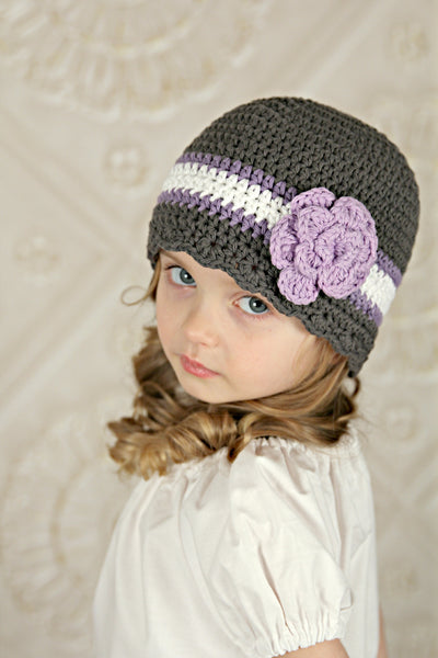Custom Striped Flapper Beanie