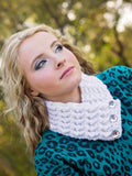 Adult White Sparkle Button Scarf by Two Seaside Babes