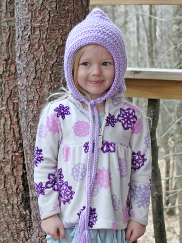Lavender pixie elf hat by Two Seaside Babes