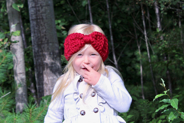 32 colors knotted bow winter headband