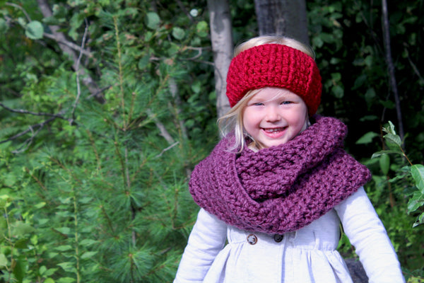 Purple plum infinity cowl winter scarf