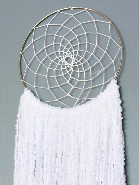 "28"" White Yarn Dream Catcher by Two Seaside Babes"