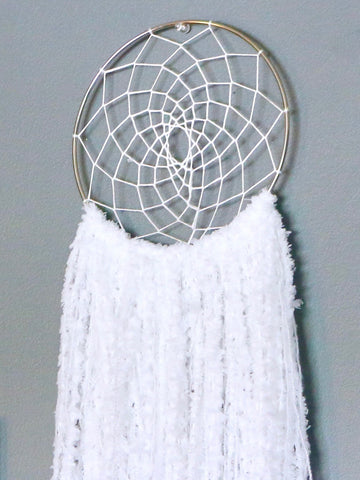 "25"" White Yarn Dream Catcher by Two Seaside Babes"