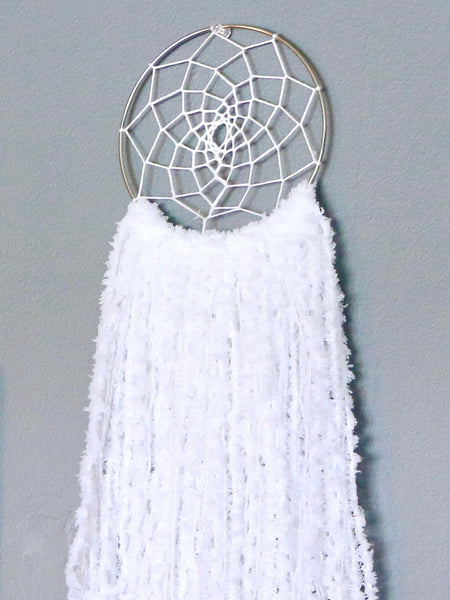 "20.5"" White Yarn Dream Catcher by Two Seaside Babes"
