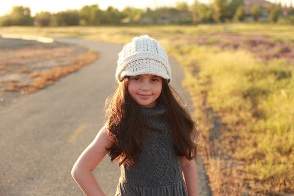 4T to Preteen Kids Cream Buckle Beanie