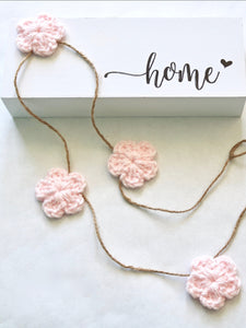 Pale pink Spring & Easter flower farmhouse garland by Two Seaside Babes
