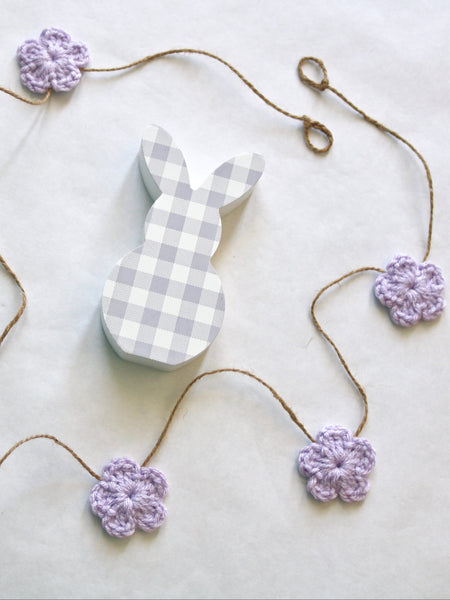 Lavender Spring & Easter flower farmhouse garland by Two Seaside Babes