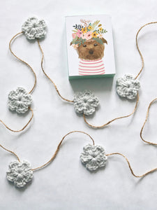 Pale gray Spring & Easter flower farmhouse garland by Two Seaside Babes