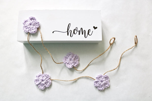 Lavender Spring & Easter flower farmhouse garland