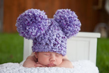 Purple Iris Pom Pom Hat