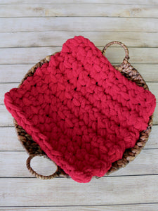 Red newborn photo prop chunky bump layer by Two Seaside Babes
