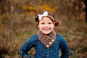 4T to Preteen Kids Taupe Button Scarf