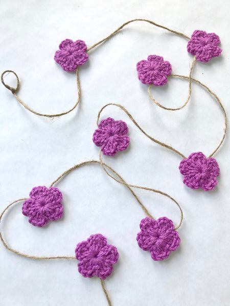 Orchid Spring & Easter flower farmhouse garland by Two Seaside Babes