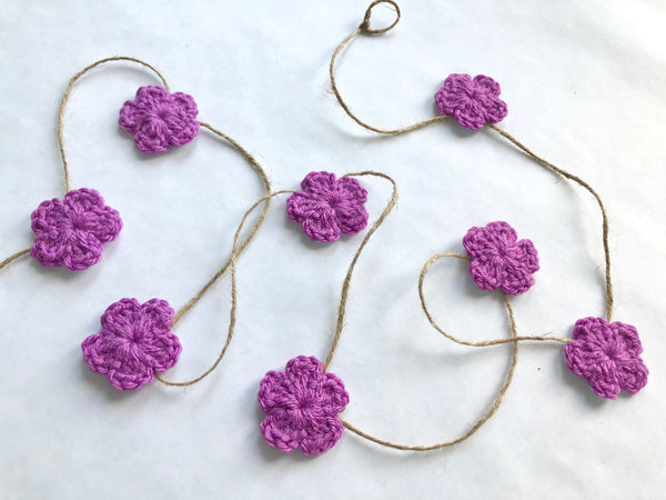 Orchid Spring & Easter flower farmhouse garland