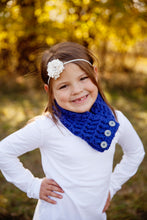 4T to Preteen Kids Cobalt Blue Button Scarf