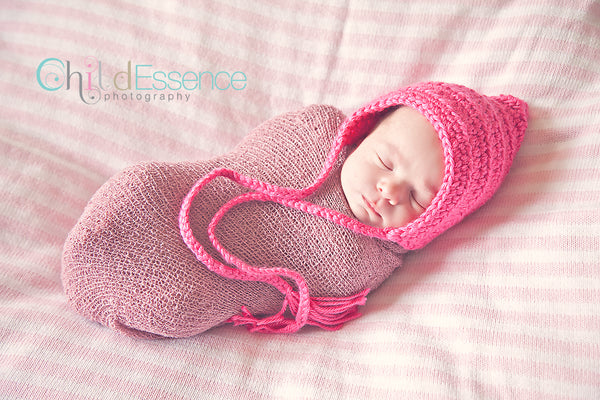 Hot Pink Pixie Elf Baby Hat