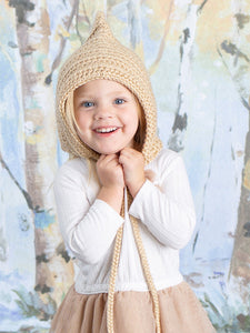 Baby brown pixie elf hat by Two Seaside Babs