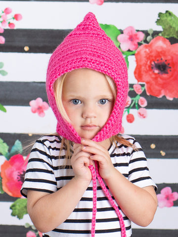 Hot pink pixie elf hat by Two Seaside Babes