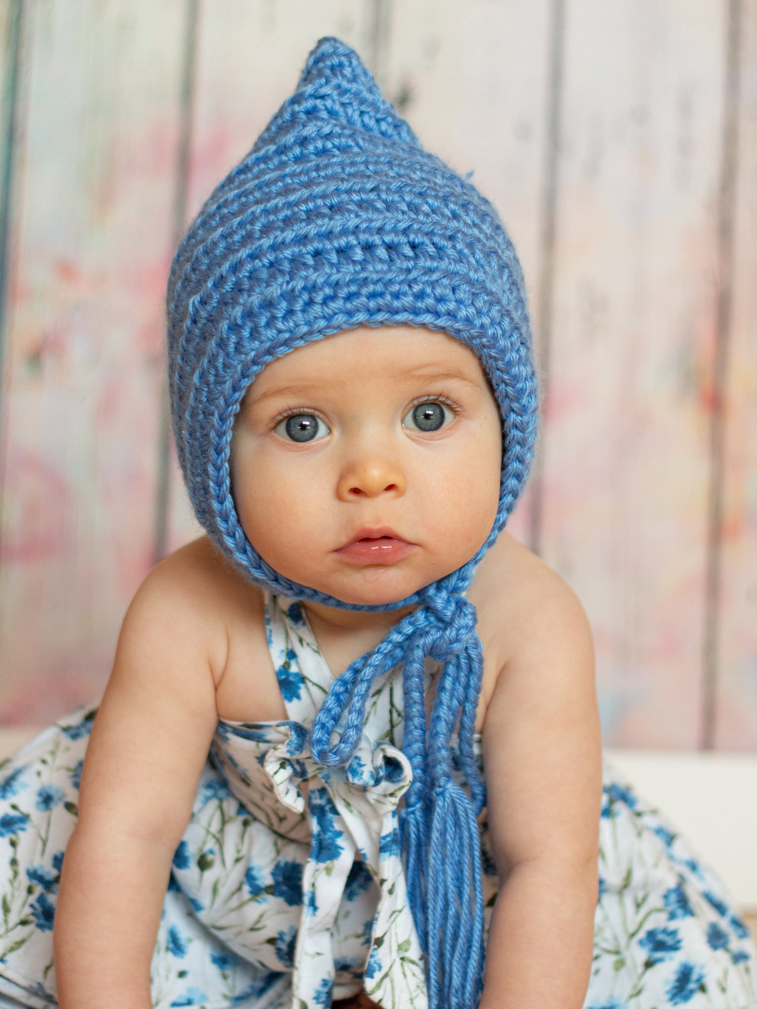 Blue pixie elf hat by Two Seaside Babes